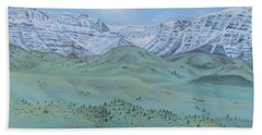 Springtime In The Rockies Beach Towel