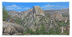 Springtime In Yosemite Valley Beach Towel