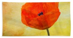 Springtime Poppy Beauty Beach Towel by Denyse Duhaime