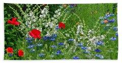 Squarely Spring Floral Garden Beach Sheet