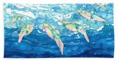 Squid Ballet Beach Sheet