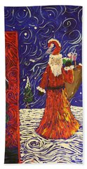 Squiggle Christmas Beach Towel