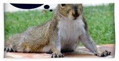 Squirrely Push Ups Beach Towel