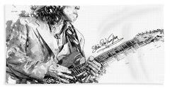 Stevie Ray 1 Beach Sheet by Gary Bodnar