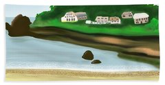 A Peaceful Life  Beach Towel