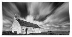 St Cwyfan's Church Beach Towel