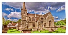 St Cyriac Church Lacock Beach Towel