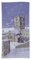 St David S Cathedral In The Snow Beach Towel
