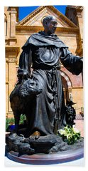 St Francis Of Assisi - Santa Fe Beach Towel