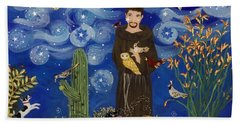 St. Francis Starry Night Beach Towel