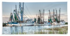 St. Helena Island Shrimp Boats Beach Towel