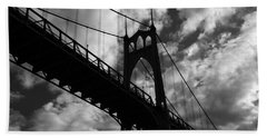 St Johns Bridge Beach Towel by Wes and Dotty Weber