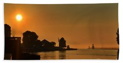 St Joseph Lighthouse Sunset Beach Towel