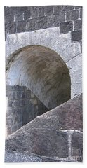 St. Kitts  - Brimstone Hill Fortress Beach Towel by HEVi FineArt