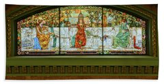 St Louis Union Station Allegorical Window Beach Sheet by Greg Kluempers