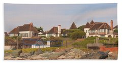 Beach Towel featuring the photograph St. Malo Beach by Laurie Lundquist
