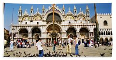 Beach Sheet featuring the photograph St. Mark's Basilica  by Allen Beatty