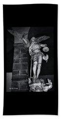 St. Michel Slaying The Dragon Beach Sheet by Elf Evans