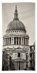 St Pauls London Beach Towel by Heather Applegate
