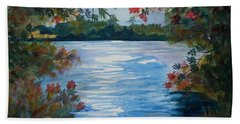 St. Regis Lake Beach Towel by Ellen Levinson