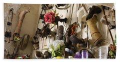 New Orleans St Roch Cemetery Beach Towel by Luana K Perez