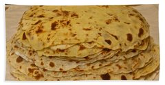 Stack Of Lefse Rounds Beach Sheet