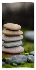 Stacked Stones B2 Beach Sheet by Marco Oliveira