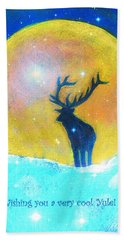 Stag Of Winter Beach Towel