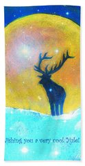 Stag Of Winter Beach Sheet