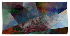 Stain Glass I Beach Towel by David Bridburg
