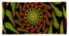 Stained Glass Art 01 Beach Towel