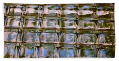 Stained Glass Block Window Beach Towel