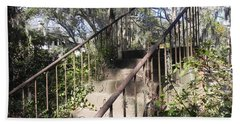 Stairway To Nowhere Beach Towel by Patricia Greer