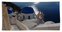 Stairway To The Blue Domed Church Beach Towel
