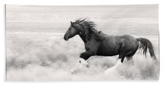 Stallion Blur Beach Towel