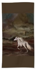 Beach Towel featuring the photograph Stallion Of The Knolls by Melinda Hughes-Berland