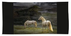 Stallions Of The Gods Beach Towel