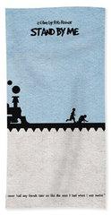 Train Digital Art Beach Towels