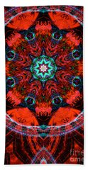 Star Inside Red 2 Beach Towel