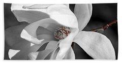 Star Magnolia Flower Beach Towel