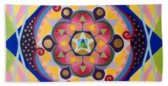 Star Mandala Beach Towel