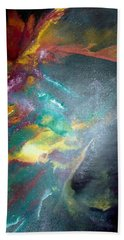 Beach Sheet featuring the painting Star Nebula by Carrie Maurer
