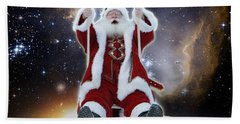 Santa's Star Swing Beach Towel