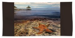 Starfish Drifting Beach Towel by Marilyn  McNish