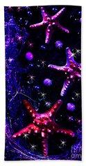 Starfish Galaxy Beach Towel by Patricia L Davidson
