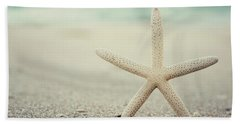 Starfish On Beach Vintage Seaside New Jersey  Beach Sheet