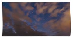 Beach Towel featuring the photograph Starlight Skyscape by Marty Saccone
