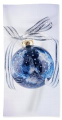 Christmas Ornament With Stars Beach Sheet