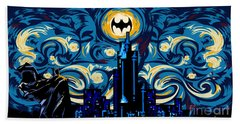 Starry Knight Beach Towel by Three Second