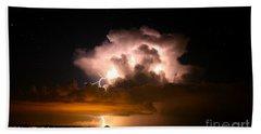 Starry Thundercloud Beach Towel